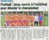 1ere partie de saison 2014/2015 - Association Sportive Frontenex