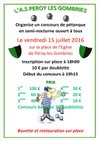 CONCOURS DE PETANQUE ASPG - A.S. PEROY-LES-GOMBRIES