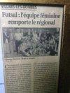 Notre équipe féminines remporte le régional ! Elles sont championnes Rhône-Alpes en Futsal ! - FOOTBALL CLUB DE LA DOMBES