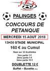 CONCOURS DE PETANQUE - JF PALINGES