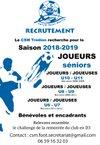 Recrutement SAISON 2018/2019 - Trédion Cercle-Saint-Martin