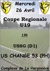 Coupe Regionale U19 - Union Sportive Saint Germain le Fouilloux