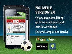 Nouvelle version 3.0 pour les applications mobiles footeo & clubeo !