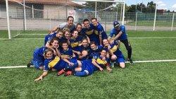 Les féminines sous- championnes de 1ère Division à onze.Bravo quand même ! - Amicale Sportive Vernousaine