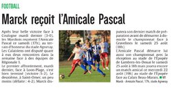 AVANT MATCH AS MARCK-AMICALE PASCAL