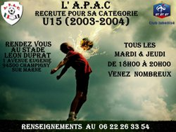 L' A.P.A.C RECRUTE - A.P.A.C CHAMPIGNY SUR MARNE