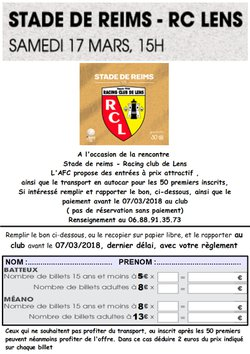 Déplacement match SDR -Racing club de Lens