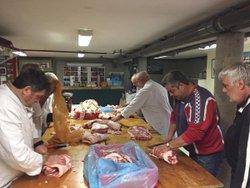 Préparation des caillettes et saucisses 01122017 - Association Sportive de Cornas