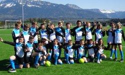 Les U 11 accompagnent le Fc Annecy lors de sa victoire 1 à 0 contre Le puy - A.S.EVIRES