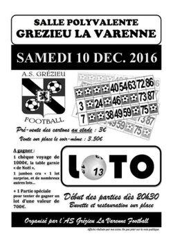 LOTO 2016 - SAMEDI 10 DECEMBRE