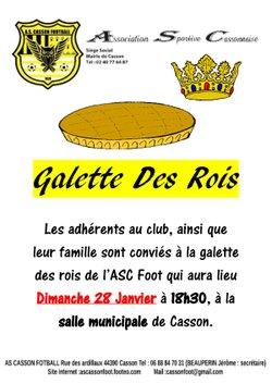 Galette des rois - AS CASSON FOOTBALL
