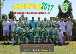 ASCCL 2 champions de D4 2017 ! - Association sportive Cahuzac Castillonnès Lalandusse