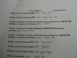 Bourriche: les gagnants!! - A.S. Coteaux de Dordogne
