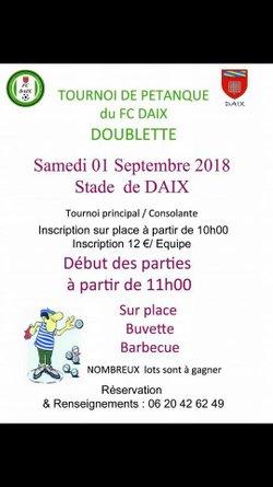Tournoi pétanque FC Daix du 1er Septembre