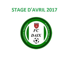 STAGE D'AVRIL AU FC DAIX !!!
