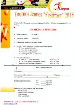 FESTIFOOT 2018 - Association Sportive Laugnacaise