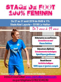 STAGE FOOT 100% FEMININ