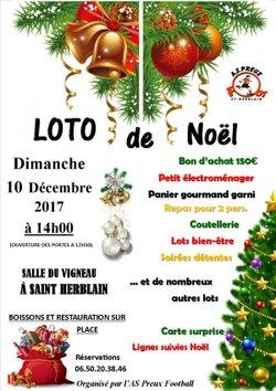 LOTO DE NOEL le Dimanche 10 Décembre 2017