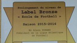 Label Bronze pour notre école de football