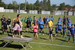 Echauffement en Zumba par Aline pour les vétérans !!! - AS SALBRIS FOOTBALL