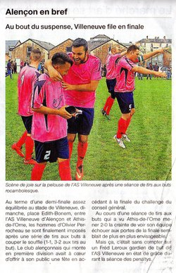 Article de presse Saison 2014/2015