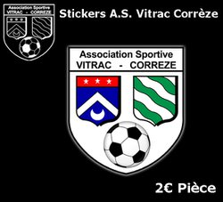Stickers AS Vitrac corrèze