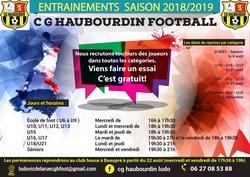 LES DATES DE REPRISE DES ENTRAINEMENTS - CGH - HAUBOURDIN FOOTBALL