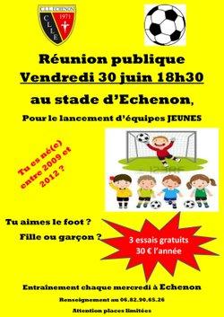Réunion publique équipes jeunes saison 2017-2018 - C.L.L ECHENON