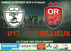 24 FÉVRIER 2018 - 1/4 DE FINALE COUPE U17 - Lyon Ouest Sporting Club