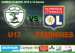 03 MARS 2018 : U13 vs Olympique Lyonnais Féminines - Lyon Ouest Sporting Club