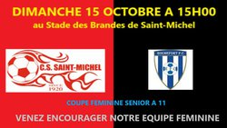 Programme du 14 et 15 octobre 2017 : un week-end 100 % FOOT - C.S. ST MICHEL/CHARENTE