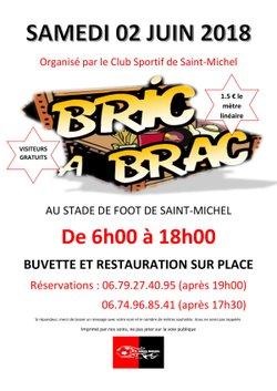 BRIC A BRAC SAMEDI 2 JUIN AU STADE DES BRANDES - C.S. ST MICHEL/CHARENTE