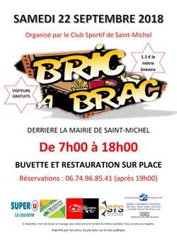 BRIC A BRAC DU CSSM, le samedi 22 Septembre - C.S. ST MICHEL/CHARENTE