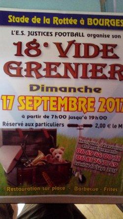 L'ES Justice organise son 18ième Vide Grenier