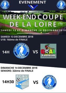 Programme du week-end (match de coupe) - Entente Sportive Saint Christo Marcenod Football