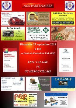 Match de Foot à Falaise le 23 septembre contre HSC
