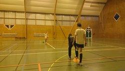 Entrainament U13 en salle le 8/12/2014 - ESPERANCE LA BOUEXIERE FOOTBALL
