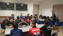 Dernier entrainement de foot U13 de fin d'année 2014, qui se termine par un gouter - ESPERANCE LA BOUEXIERE FOOTBALL