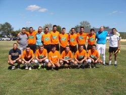 Equipe fanion en coupe de france contre St Genest d'Ambiére - Football Club Airvo Saint Jouin