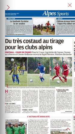 Tirage 3 eme tour coupe de France - FC CERESTE REILLANNE