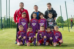 Les équipes U11 et U13 du FCLS lors du tournoi de Larnage le 08 mai 2016 - Football Club Larnage-Serves