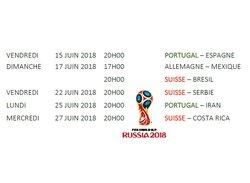 CM 2018 : Suisse et Portugal diffusés au terrain!!!