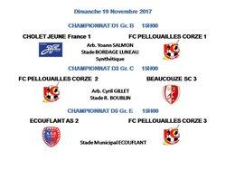 Dim 19 Nov 2017 : 6ème journée championnat Seniors
