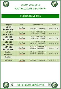 PORTES OUVERTES FCC