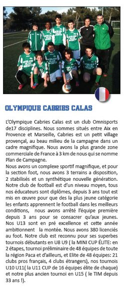 OLYMPIQUE CABRIES CALAS
