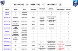 Agenda week-end du 24/25 février - Football Club du Châtelet