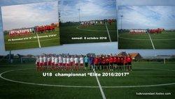U18 FC Rosendael samedi 8 octobre 2016 - FOOTBALL CLUB DE ROSENDAEL