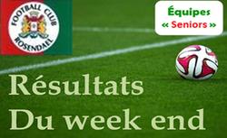 Résultats du dimanche matin en seniors - FOOTBALL CLUB DE ROSENDAEL