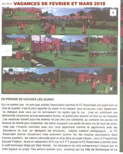 LE FC ROSENDAEL OUVERT A L'INTEGRATION DES JEUNES VENUS D'AFRIQUE