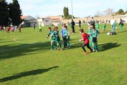 Plateau a Poyes avec nos 3 equipes sur le terrain . - FOOTBALL CLUB LESPIGNAN VENDRES